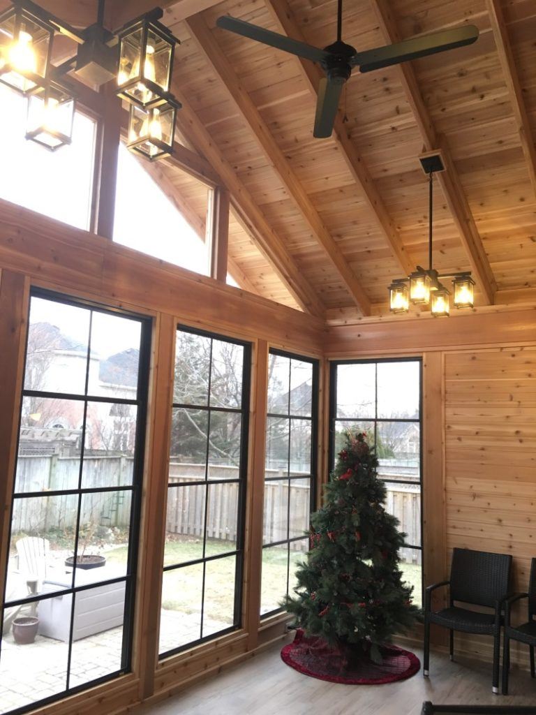 Rustic Pines sunroom
