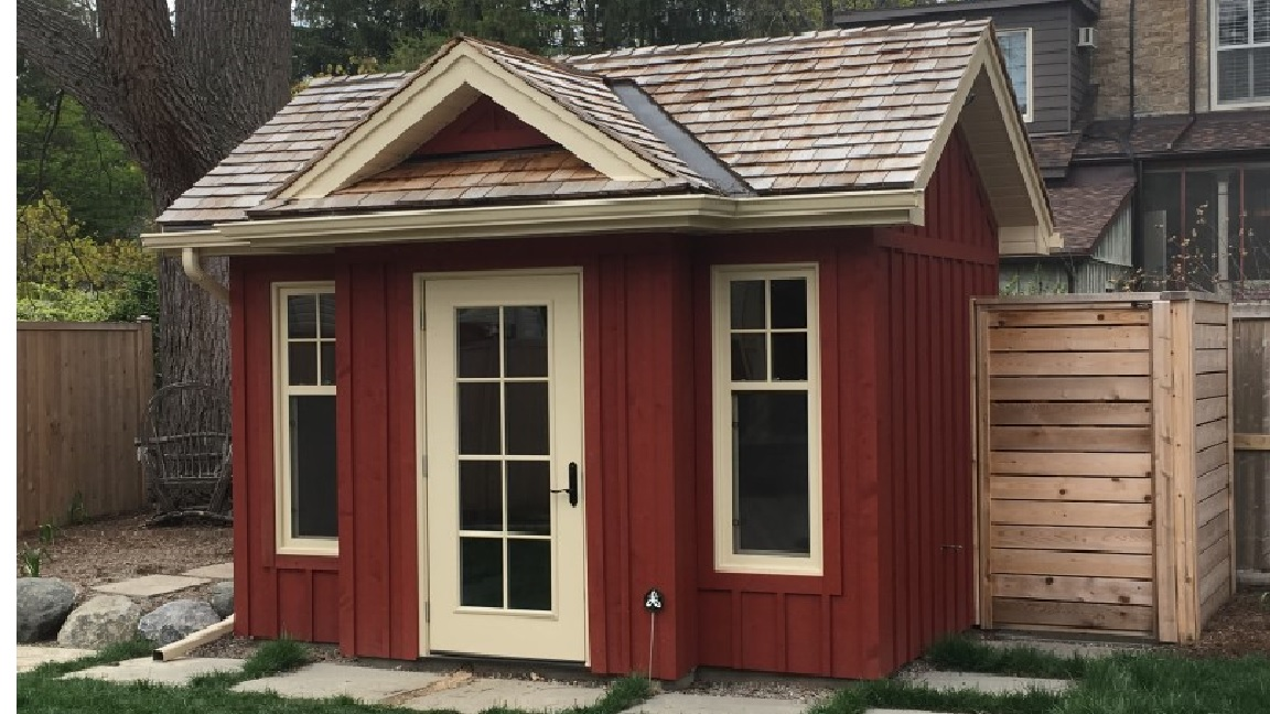 rustic pines red shed